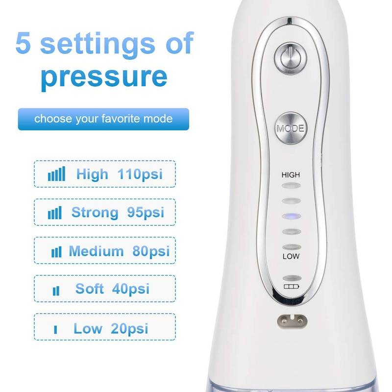 Portable Water Flosser 300ML IPX7 Waterproof Cordless Dental Oral Irrigator and Rechargeable Water Flossing for Home and Travel
