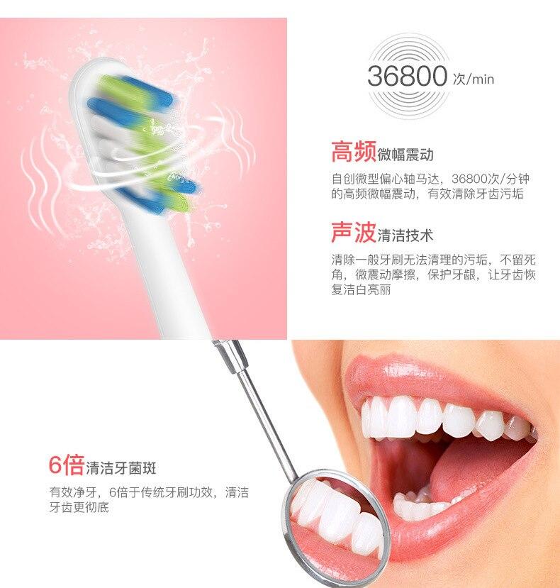 فرشاة الاسنان الكهربائية 6 رؤوس فرشاة + جهاز خيط الاسنان المائي 5 سرعات 8 رؤوس Sonic Electric Toothbrush