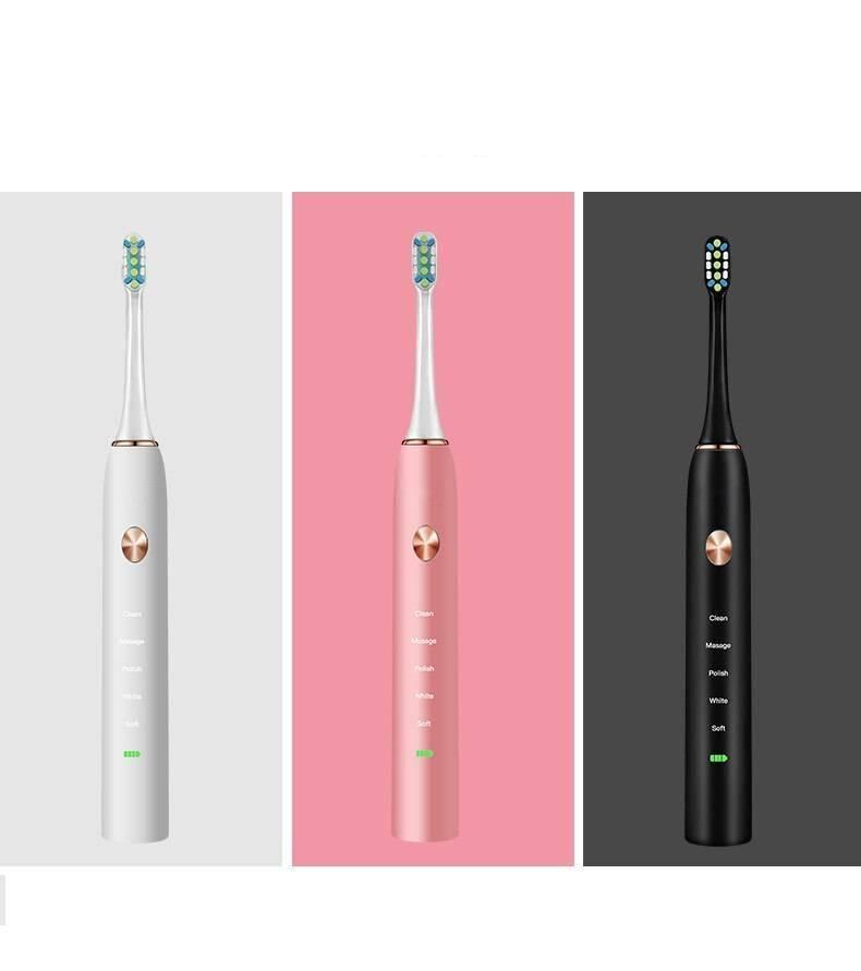 Uonu Electric Toothbrush فرشاة اسنان كهربائية مع 6 رؤوس وجنطة لشحن الفرشاة Sonic Electric Toothbrush Smart Techs, Better Living
